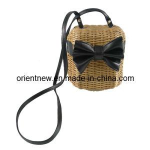 Straw Rattan Crossbody Bag