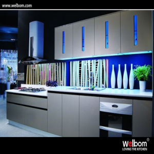 2016 Welbom Wholesale Kitchen Cabinet with Glass Front Cabinet Doors pictures & photos