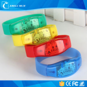 Promotion Sound Activated LED Wristbands Suppliers pictures & photos