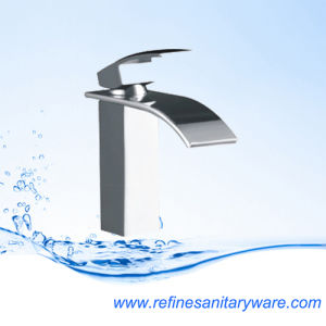 Hot Selling Solid Square Brass Basin Faucet (R1296-2M) pictures & photos