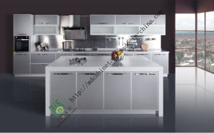 UV Wood Kitchen Cabinet (ZS-148) pictures & photos