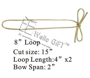 Gold Metallic Elastic Bow Tie for Gift Box Wrapping pictures & photos