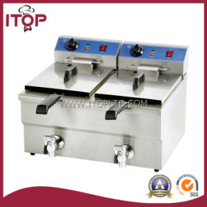 Counter Top Type Electric Fryer with Valve (PEF/PEFU) pictures & photos