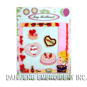 Lovely Embroidered Stickers Pack pictures & photos
