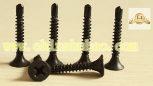 Screw/Self Drilling Screw/Phillips Drive Fine Thread Black Phosphated Self Drilling Screw pictures & photos