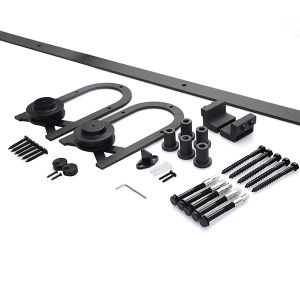 Steel Sliding Barn Wood Door Closet Hardware Track Set