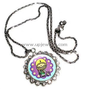 Zinc Alloy Rosary Necklace (URN1-033)