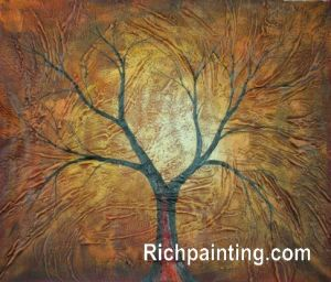 Abstract Oil Painting on Canvas -Red Bole (3)