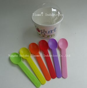 Custom Plastic Yogurt Flat Spoon pictures & photos