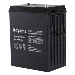 High Capacity 6V Deep Cycle Gel Battery 310ah pictures & photos