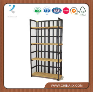 Wood Storage Retail Shelving with 4 Removable Shelves pictures & photos