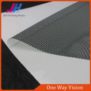 PVC Self Adhesive One Way Vision Fabric with Available Price pictures & photos