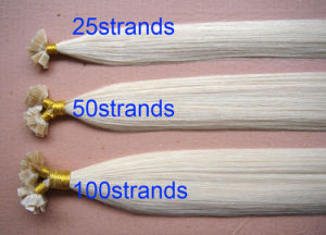 100% Italian Keratin Pre Bonded Indian Remy Hair Stick I Tip Hair/Nail U Tip Hair pictures & photos
