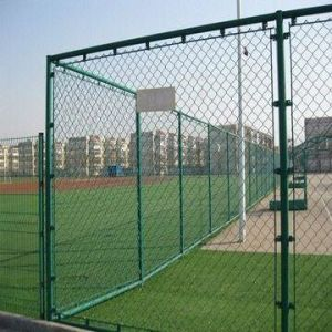 Green PVC Coated Wire Mesh Fence