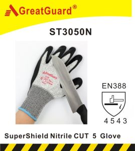 Greatguard Supershield Cut 5 Nitrile Glove (ST3050N) pictures & photos