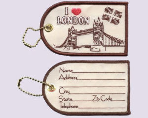 Embroidery Luggage Tag, I Love London pictures & photos