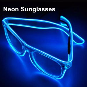 Rave Glow EL Sunglasses with Clear Lenses pictures & photos