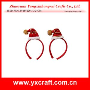 Christmas Decoration (ZY16Y228-1-2 24CM) Christmas Happy Birthday Headband pictures & photos