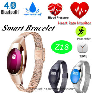 IP65 Bluetooth Bracelet with Heart Rate and Blood Pressure Monitor (Z18) pictures & photos