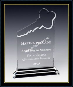 "8"" Tall Crystal Key Plaque Award for Your Key Team Players (NU-CW690) pictures & photos"