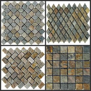 Slate Mosaic for Wall Cladding Tile pictures & photos