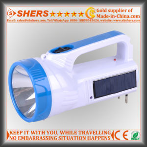 Solar 1W LED Torch with 18 LED Reading Lamp (SH-1950) pictures & photos