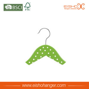 Green Fashionable DOT Printing Wooden Shirt Clothes Hangers (7LET0002) pictures & photos