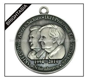 3D Design Zinc Alloy Antique Silver Sovenir Medal (BYH-101078) pictures & photos