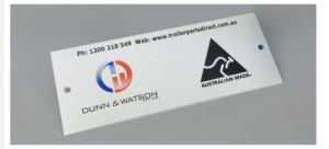 LG Logo Customized, Aluminum Casting Metal Logo Sticker pictures & photos