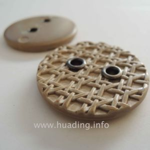 Two Holes Sewing Button with Netlike Pattern Af023 pictures & photos