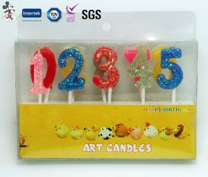 Wholesale Paraffin Wax Birthday Number Candle pictures & photos