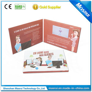 High Quality LCD Video Brochure Greeting Video Card /Digital Brochure Card