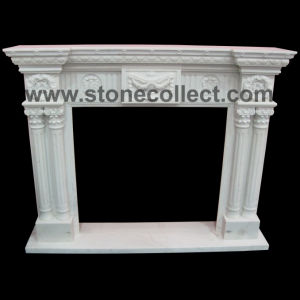 Pure White Marble Fairplace Mantle pictures & photos
