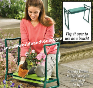 Garden Folding Kneeler Seat Chair Pad Stool Steel Frame Tool pictures & photos