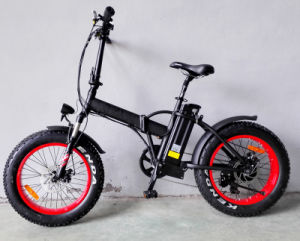 Samsung Lithium Battery Fat Tire Folding E Bike pictures & photos