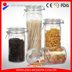 High Quality Glass Storage Jar/Hermetic Food Glass Jar Wholesale/Glass Jar with Sealing Lid pictures & photos