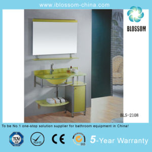 Oval Lass Basin/Glass Washing Basin with Mirror (BLS-2108) pictures & photos