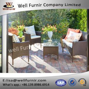 Well Furnir 4-Piece Patio PE Rattam Dining Sofa Chat Set pictures & photos