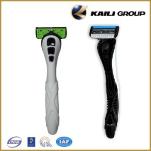 4 Blades & Easy Rinse Design Shaving Razor pictures & photos