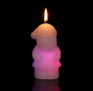 Christmas Gift Holiday Decoration Santa Claus Wax LED Candle