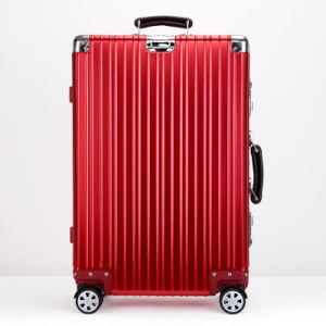 Aluminium Luggage with Red Color pictures & photos