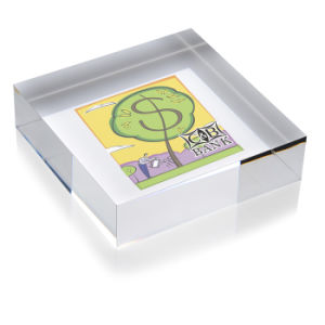 Square Crystal Paperweight for Award pictures & photos