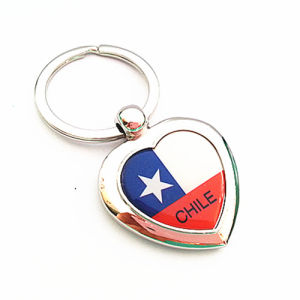 Chile Souvenir Gift Heart Key Chain with Keyring (F1119) pictures & photos