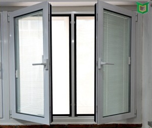 Feelingtop Thermal Break Aluminum Caement Window Swing Windows with Mosquito Net