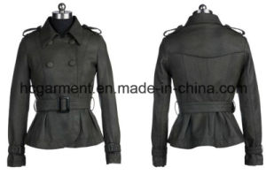 Punk PU Jacket for Women/Lady, Leather /Motorcycle Jackets pictures & photos
