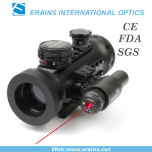 Compact Red Green DOT Scope With Red Laser Sight Attached (ES-RD-YH601+R) pictures & photos