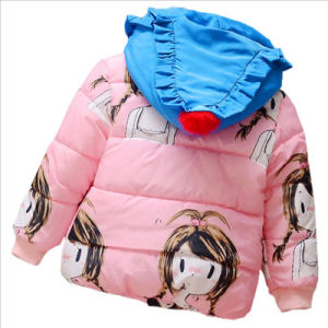 Girl Colors Long Cotton Coat for Kids Clothing pictures & photos