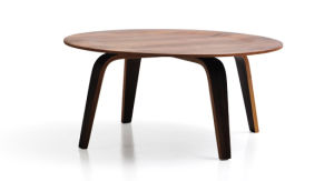 Classic MDF Coffee Table in Light Walnut Veneer (TT-CY01)