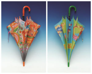 Auto Open Cantoon Printing Straight Kids Umbrella (SK-026) pictures & photos