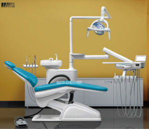 light Blue Integral Dental Unit Chair with Ce Approval